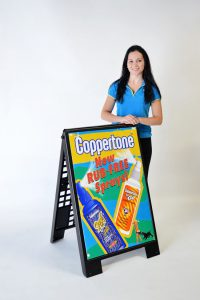 advertising sign a-frame coopertone