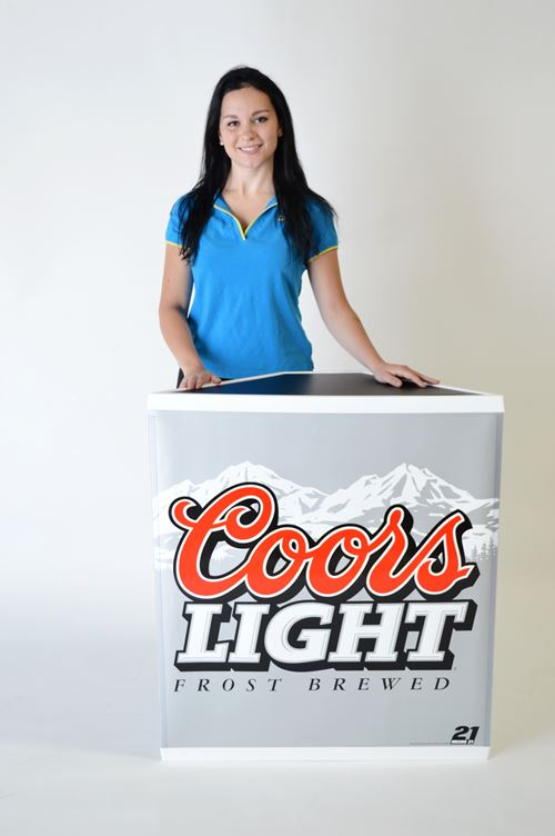 expo counter 90-degree coors light