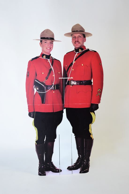 standee rcmp officers red serge uniform