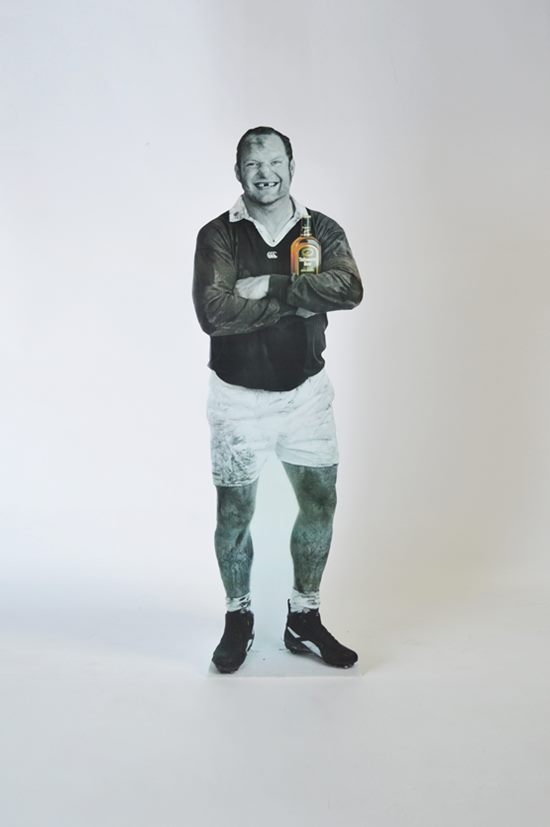 standee rugby player whisky