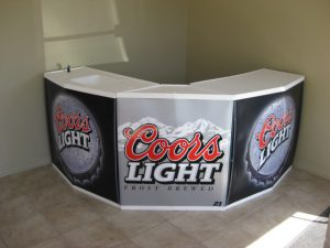 promo counter port-a-bar front view