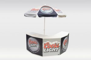 promo counter port-a-bar umbrella